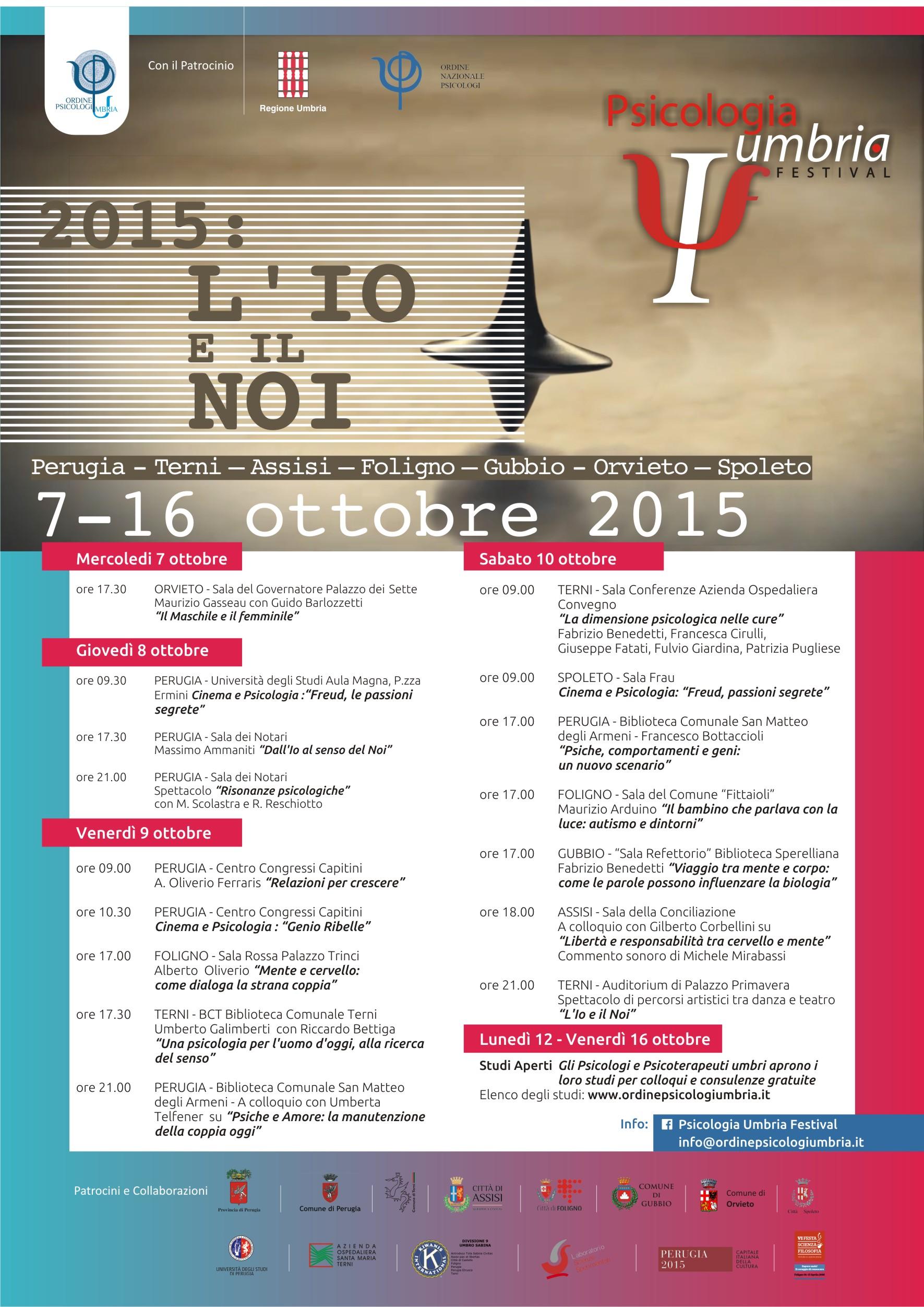L'IO E IL NOI - Psicologia Umbria Festival