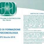 Società Italiana di Psico-oncologia Marche, Corso di Formazione in Psico-oncologia. Settembre-Dicembre 2016