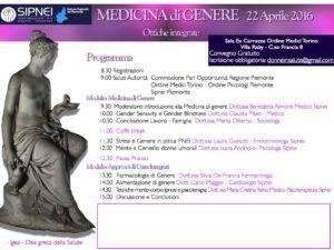 Torino 22 Aprile 2016 Medicina di genere. Ottiche integrate
