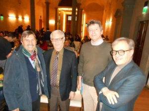 Da sinistra Francesco Bottaccioli, Hugo Besedovsky, Andrea Minelli, David Lazzari
