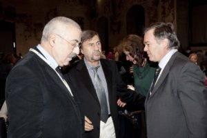 Giraldi, Bottaccioli e Mauro Bologna, professore di patologia generale, L'Aquila