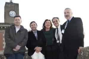 Il Comitato scientifico operativo del Congresso: Minelli, Bottaccioli, Risi, Lazzari e Giraldi alla fine dei lavori