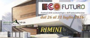 26-31 luglio 2016 Rimini Festival ECOFUTURO