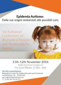 Prima conferenza europea di ricerca biomedica e trattamento per l'autismo