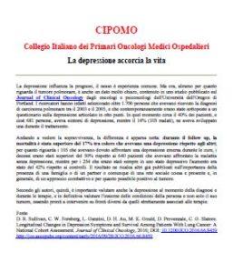 Depressione sopravvivenza neoplastici