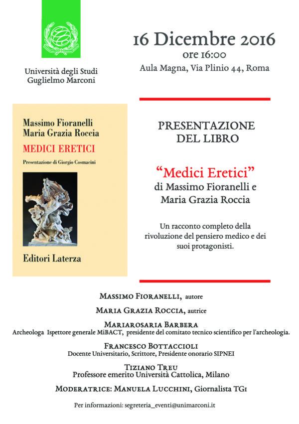 """Presentazione del libro """"MEDICI ERETICI"""""""