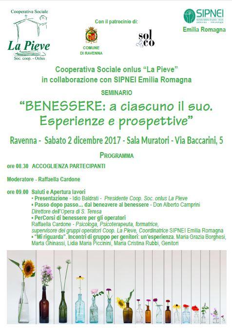 """Seminario """"BENESSERE: a ciascuno il suo Esperienze e prospettive"""""""