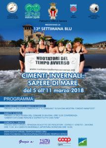 """13° Settimana Blu Dal 5 all' 11 marzo 2018. """"Cimenti Invernali:  Sapere di Mare"""""""