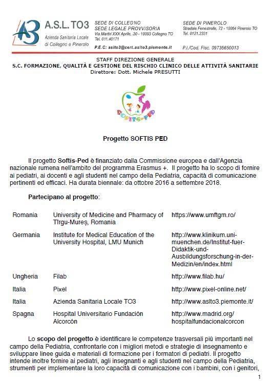 Progetto SOFTIS PED