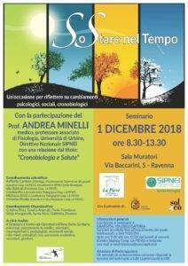 SoStare nel tempo. Un'occasione per rifletteOre su cambiamenti psicologici, sociali, cronobiologici. Seminario 1 dicembre 2018