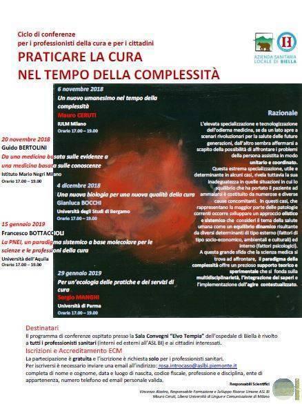 Biella, la complessità in medicina.