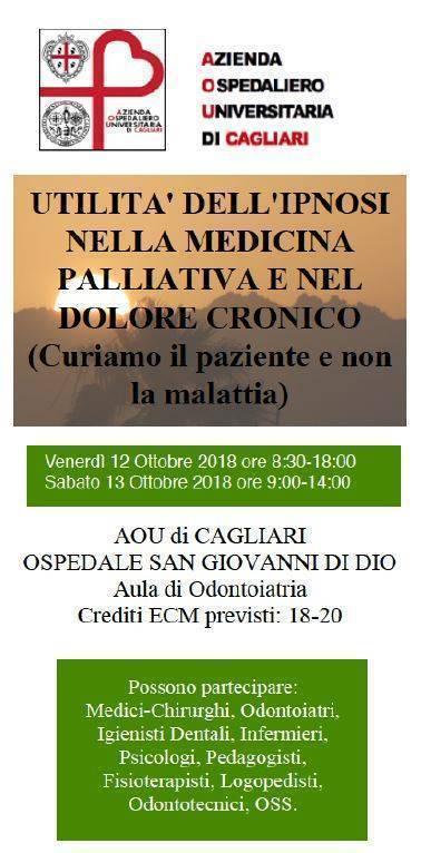 Utilità dell'ipnosi nella medicina palliativa e nel dolore cronico. Cagliari