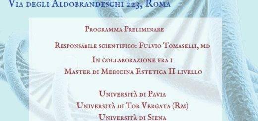 I Master di II Livello in Medicina Estetica di 12 Università a Congresso a Roma il 18-19-20 Gennaio 2019. Patrocinio Sipnei.