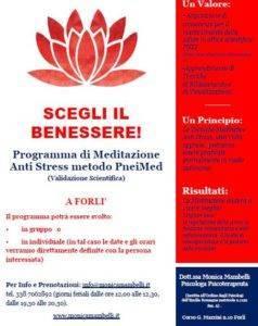SCEGLI IL BENESSERE! Programma di Meditazione Anti Stress metodo PneiMed