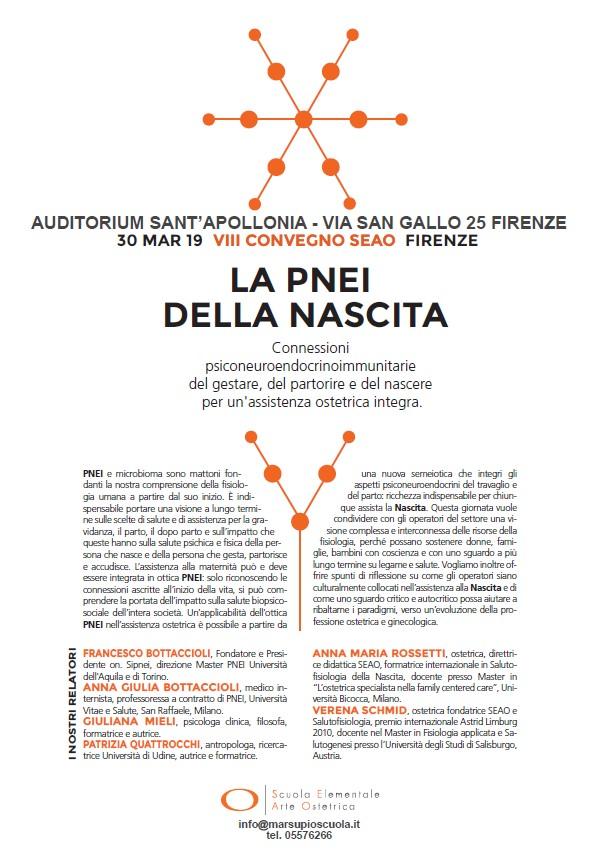 Scuola elementale di arte ostetrica PNEI della nascita. Firenze 30 Marzo 2019