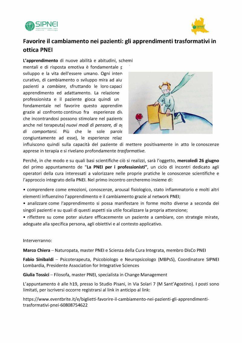 Favorire il cambiamento nei pazienti: gli apprendimenti trasformativi in ottica PNEI