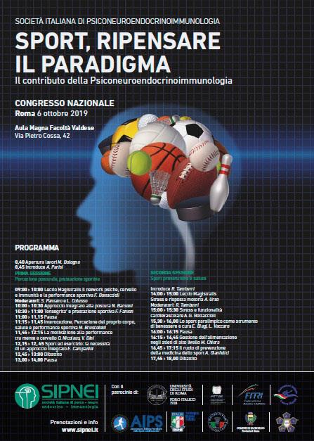 SPORT, RIPENSARE IL PARADIGMA. Congresso nazionale Roma 6 ottobre 2019