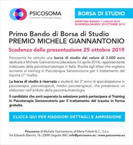 Primo bando di Borsa di Studio Premio Michele Giannantonio