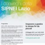 SIPNEI Lazio. Imparare a gestire lo stress fi n da piccoli