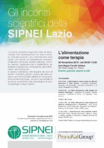 SIPNEI Lazio: L'alimentazione come terapia