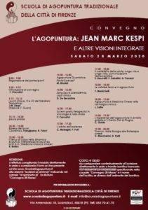 Convegno l'Agopuntura: Jean Marc Kespi e altre visioni integrate