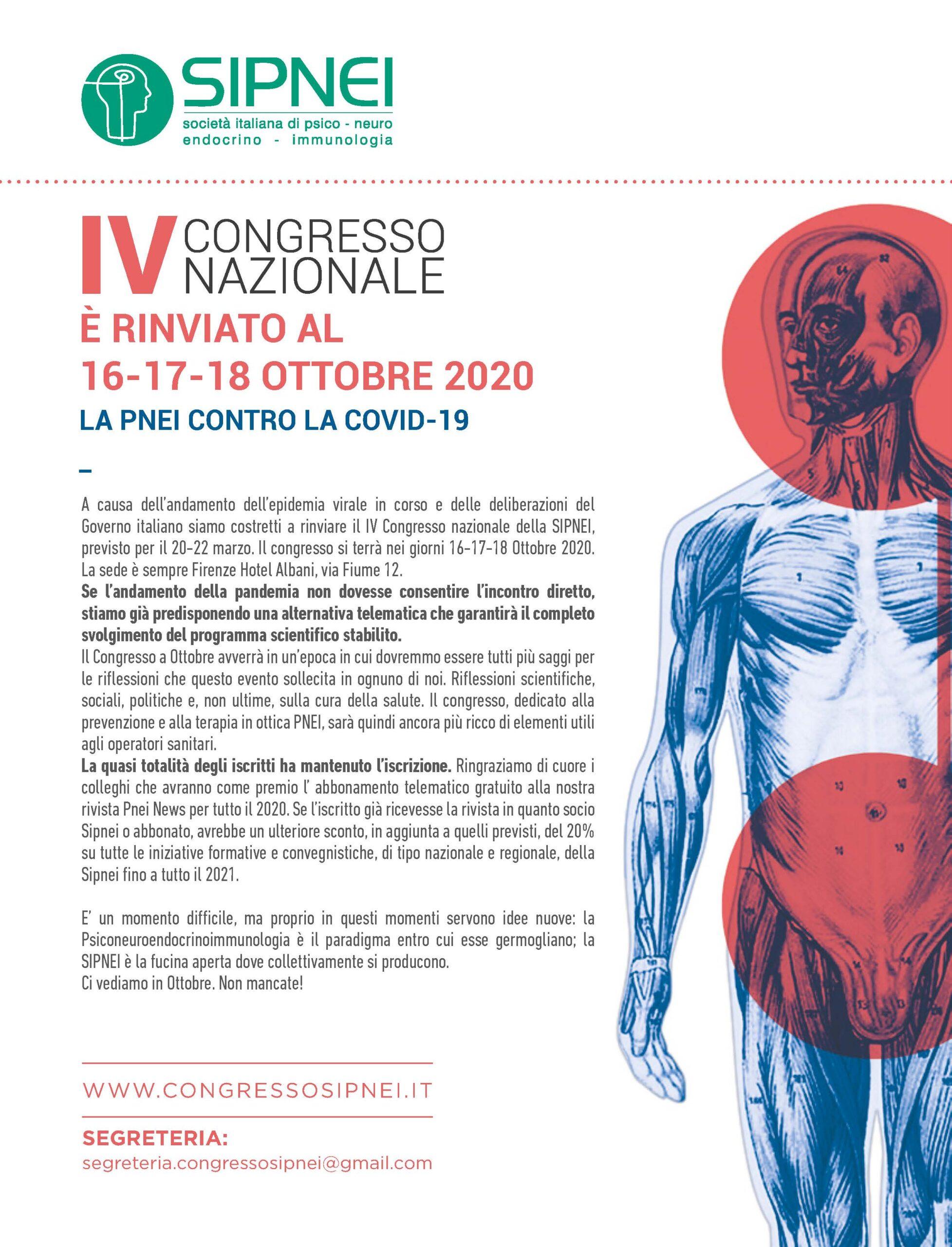 IL IV CONGRESSO SIPNEI RADDOPPIA 3