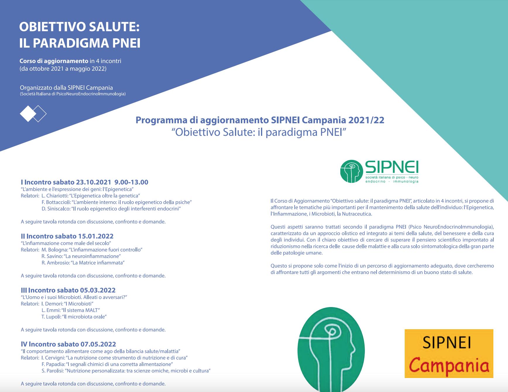 Programma di aggiornamento SIPNEI Campania 2021/22